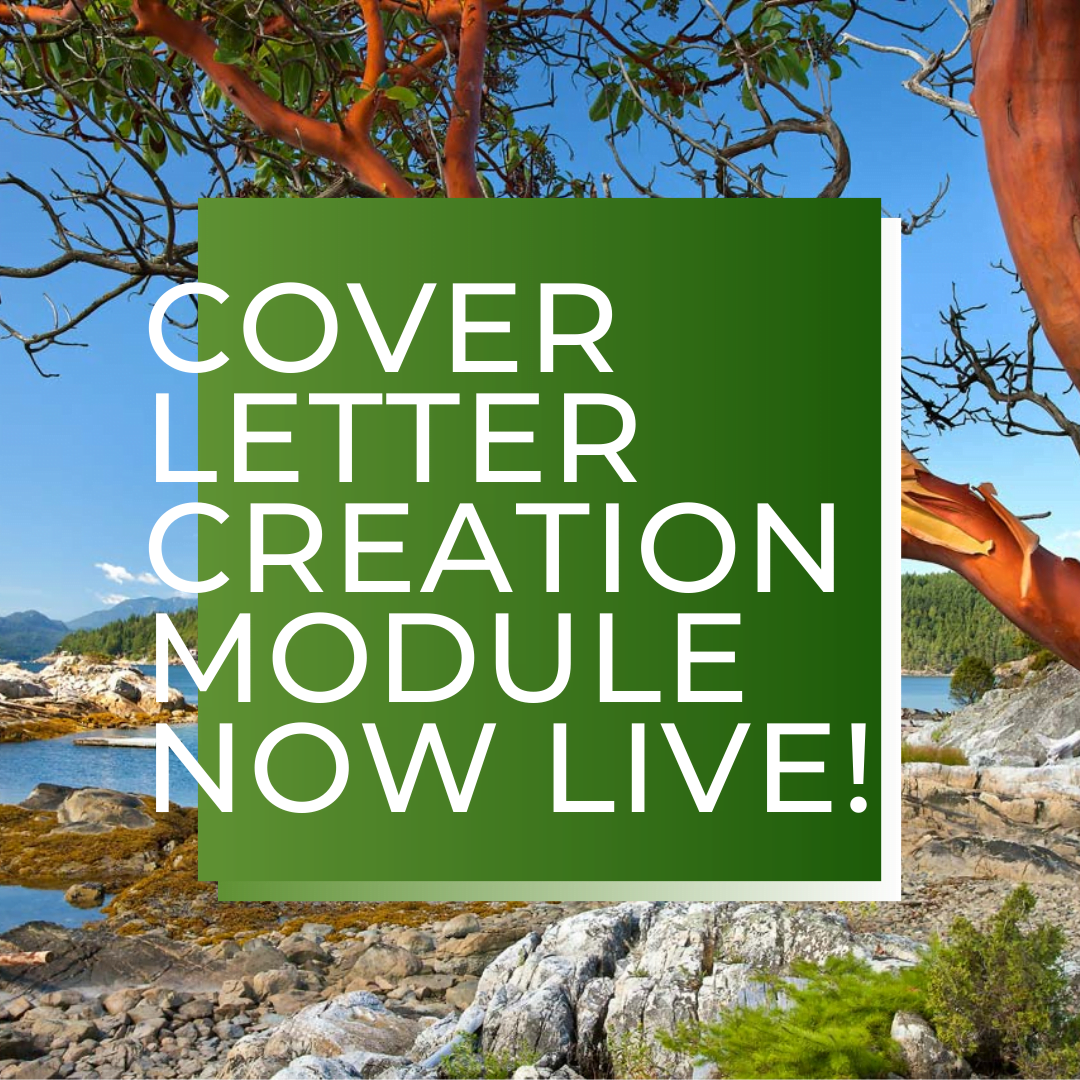 Cover Letter Creation Module is Now Live!